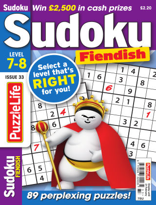 PuzzleLife Sudoku Fiendish 7-8 Issue 033