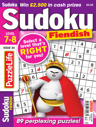 PuzzleLife Sudoku Fiendish 7-8 Issue 034