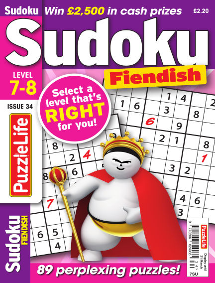 PuzzleLife Sudoku Fiendish 7-8 February 21, 2019 00:00