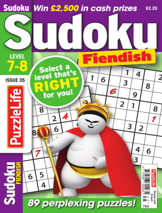 PuzzleLife Sudoku Fiendish 7-8 Issue 035