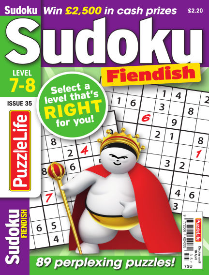PuzzleLife Sudoku Fiendish 7-8 March 21, 2019 00:00