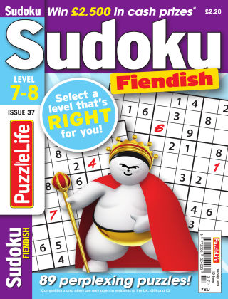 PuzzleLife Sudoku Fiendish 7-8 Issue 037