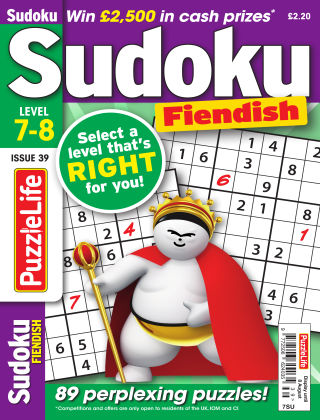 PuzzleLife Sudoku Fiendish 7-8 Issue 039