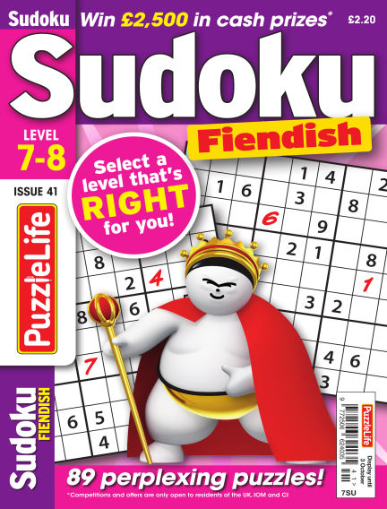 PuzzleLife Sudoku Fiendish 7-8 September 05, 2019 00:00