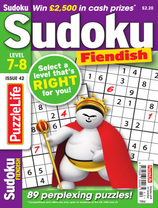 PuzzleLife Sudoku Fiendish 7-8 Issue 042