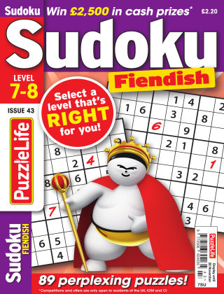 PuzzleLife Sudoku Fiendish 7-8 Issue 043