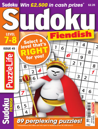 PuzzleLife Sudoku Fiendish 7-8 Issue 045