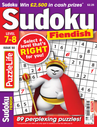 PuzzleLife Sudoku Fiendish 7-8 Issue 050