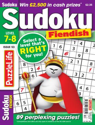 PuzzleLife Sudoku Fiendish 7-8 Issue 053
