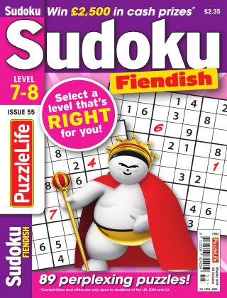 PuzzleLife Sudoku Fiendish 7-8 Issue 055