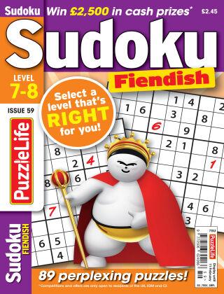 PuzzleLife Sudoku Fiendish 7-8 Issue 059