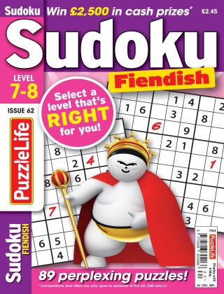 PuzzleLife Sudoku Fiendish 7-8 Issue 062