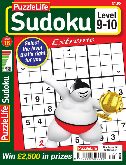 PuzzleLife Sudoku Extreme 9-10 September 15, 2017 00:00