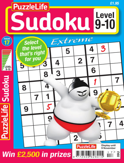 PuzzleLife Sudoku Extreme 9-10 October 12, 2017 00:00