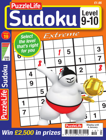 PuzzleLife Sudoku Extreme 9-10 December 07, 2017 00:00