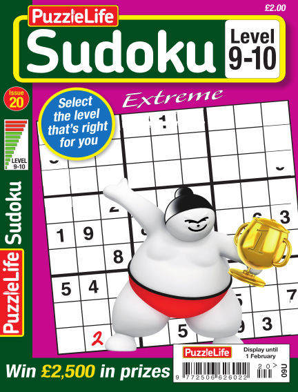 PuzzleLife Sudoku Extreme 9-10 January 04, 2018 00:00