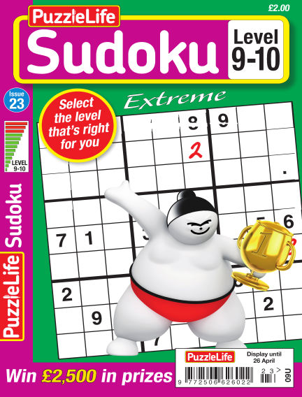 PuzzleLife Sudoku Extreme 9-10 March 29, 2018 00:00