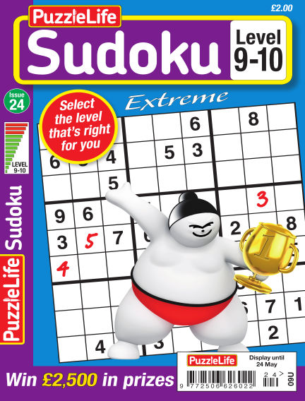 PuzzleLife Sudoku Extreme 9-10 April 26, 2018 00:00
