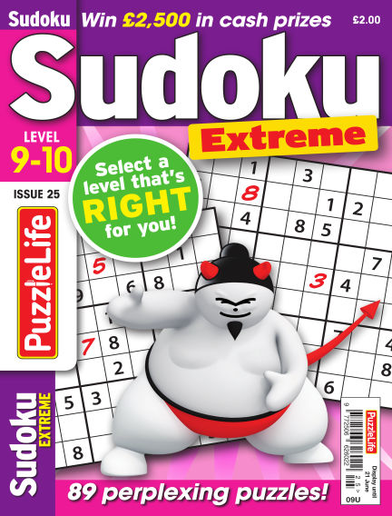 PuzzleLife Sudoku Extreme 9-10 May 24, 2018 00:00
