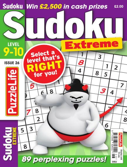 PuzzleLife Sudoku Extreme 9-10 June 21, 2018 00:00