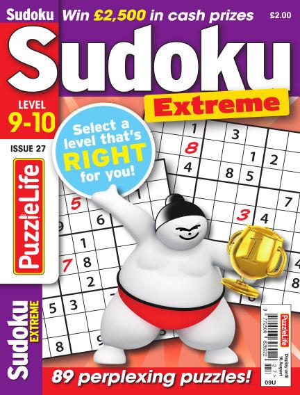 PuzzleLife Sudoku Extreme 9-10 July 19, 2018 00:00