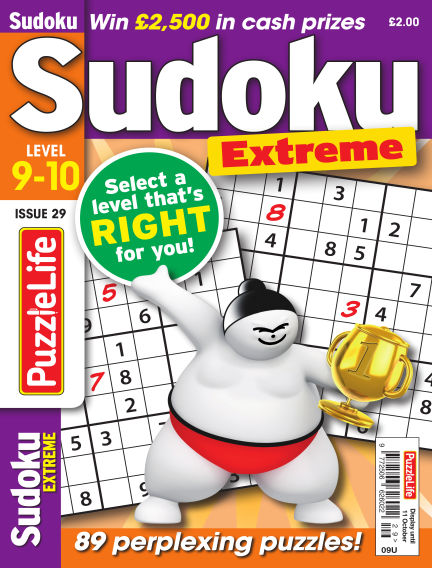 PuzzleLife Sudoku Extreme 9-10 September 13, 2018 00:00