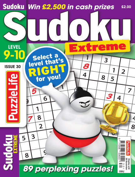PuzzleLife Sudoku Extreme 9-10 October 11, 2018 00:00