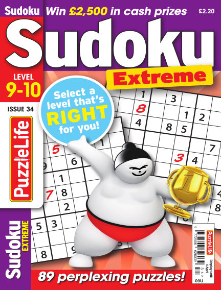 PuzzleLife Sudoku Extreme 9-10 March 07, 2019 00:00