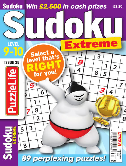 PuzzleLife Sudoku Extreme 9-10 April 04, 2019 00:00