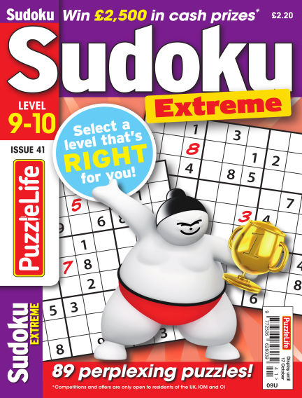 PuzzleLife Sudoku Extreme 9-10 September 19, 2019 00:00