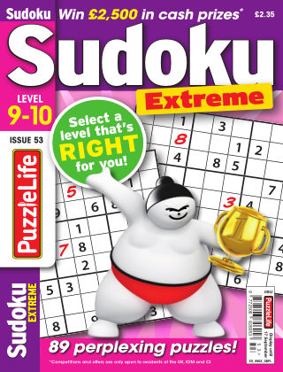 PuzzleLife Sudoku Extreme 9-10 Issue 053