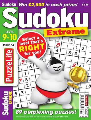 PuzzleLife Sudoku Extreme 9-10 Issue 054