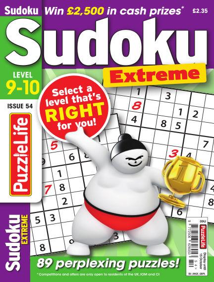 PuzzleLife Sudoku Extreme 9-10 September 17, 2020 00:00