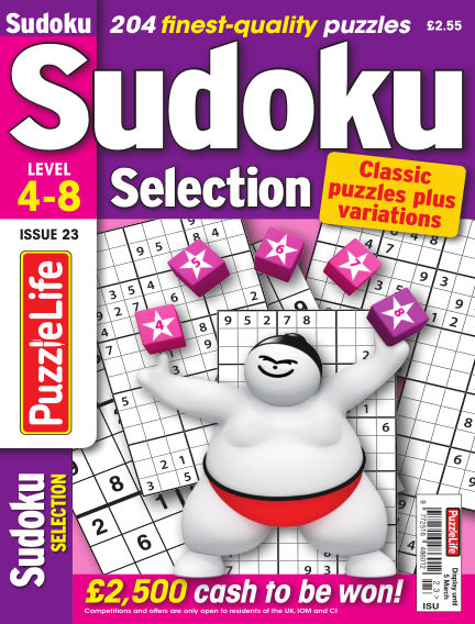 Sudoku Selection February 06, 2020 00:00