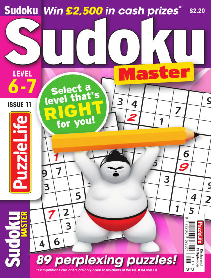 PuzzleLife Sudoku Master 6-7 August 22, 2019 00:00