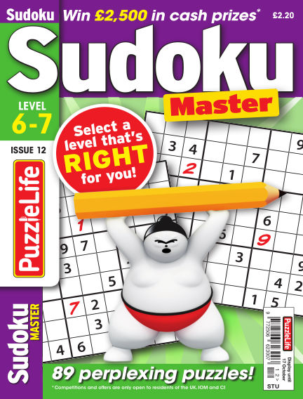 PuzzleLife Sudoku Master 6-7 September 12, 2019 00:00