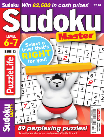 PuzzleLife Sudoku Master 6-7 October 17, 2019 00:00