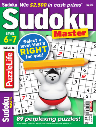 PuzzleLife Sudoku Master 6-7 Issue 016