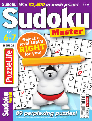PuzzleLife Sudoku Master 6-7 Issue 021