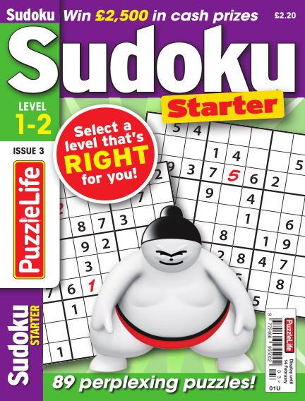 PuzzleLife Sudoku Starter 1-2 January 17, 2019 00:00