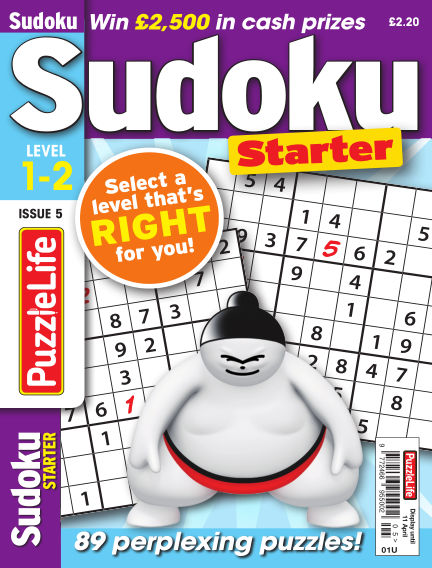 PuzzleLife Sudoku Starter 1-2 March 14, 2019 00:00