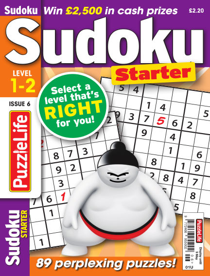 PuzzleLife Sudoku Starter 1-2 April 11, 2019 00:00