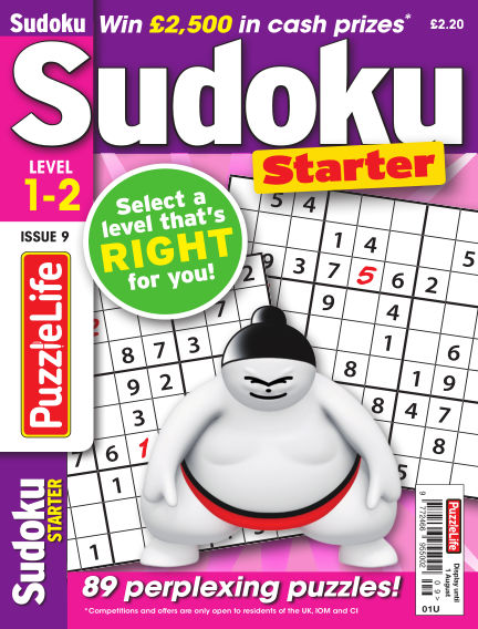 PuzzleLife Sudoku Starter 1-2 July 04, 2019 00:00