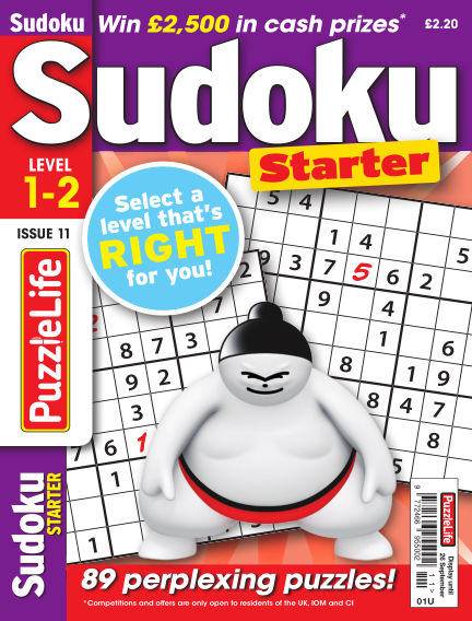 PuzzleLife Sudoku Starter 1-2 August 29, 2019 00:00