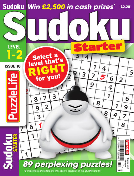 PuzzleLife Sudoku Starter 1-2 August 01, 2019 00:00