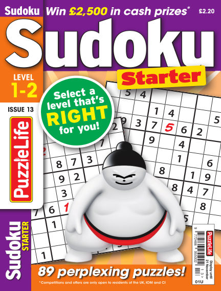PuzzleLife Sudoku Starter 1-2 October 24, 2019 00:00