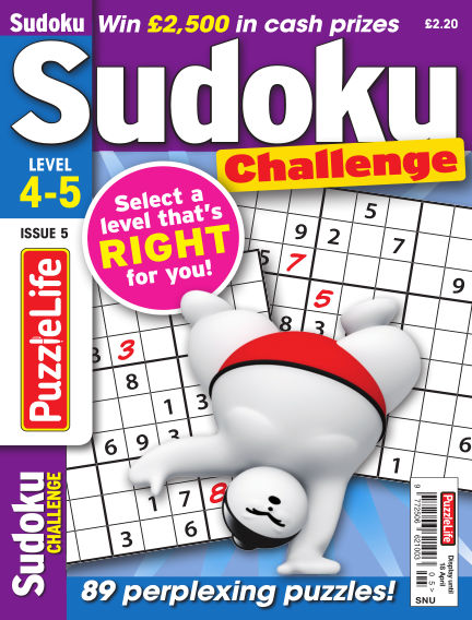 PuzzleLife Sudoku Challenge 4-5 March 21, 2019 00:00