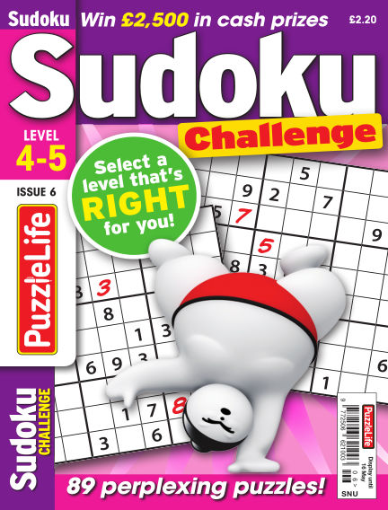 PuzzleLife Sudoku Challenge 4-5 April 18, 2019 00:00
