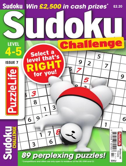 PuzzleLife Sudoku Challenge 4-5 May 16, 2019 00:00