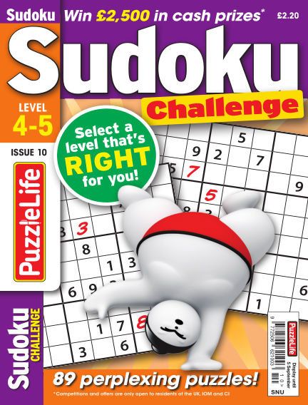 PuzzleLife Sudoku Challenge 4-5 August 08, 2019 00:00